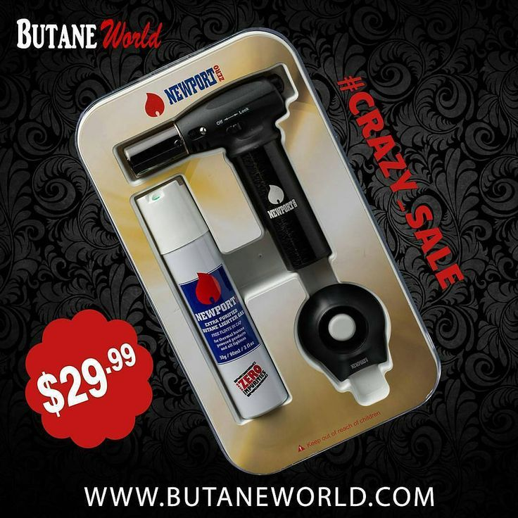 "Newport Zero Jr. torch kit contains a mini 5"" butane torch with a removeable stand and a 90ml can of Newport Zero butane.  Order Now from www.ButaneWorld.com for the cheapest price. . . . . . . . . . . .  #NewportButane #Newporttorch #Deals #Offers #Cigar #CigarLighter #lighters #Flame #Fuel #Wholesale #SmokeShop #Warranty #ButaneGas #GasLighters #Lighter #CleanButane #ZeroImpurities #UltraPurified #extrapurified"