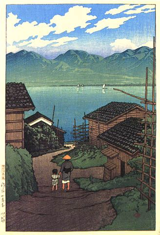 hanga gallery . . . torii gallery: Kamo Village, Sado Island by Kawase Hasui