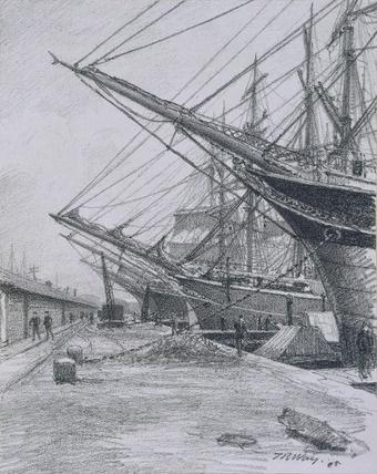 East India and West India Docks: Sailing Ships, by Thomas Robert Wayvandaprints.com