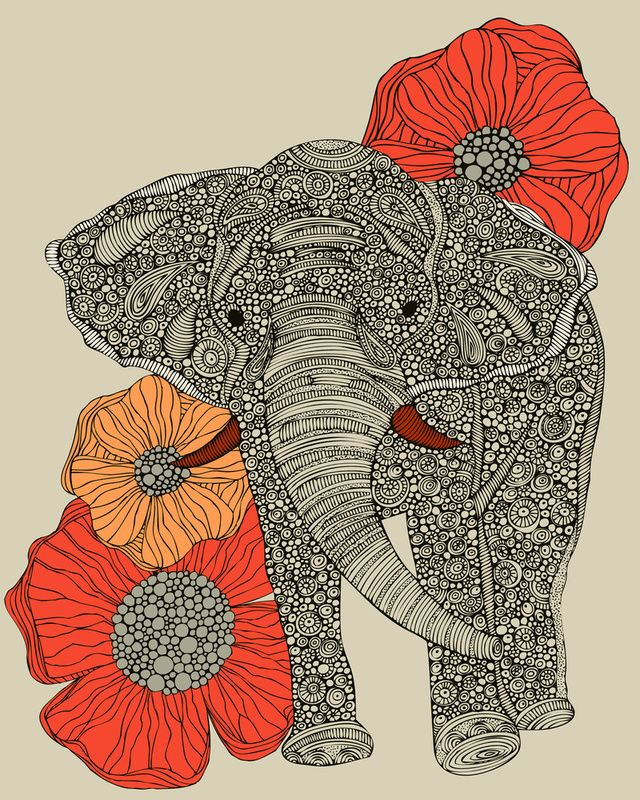 The Elephant by Valentina- if I ever got a second tattoo I love this