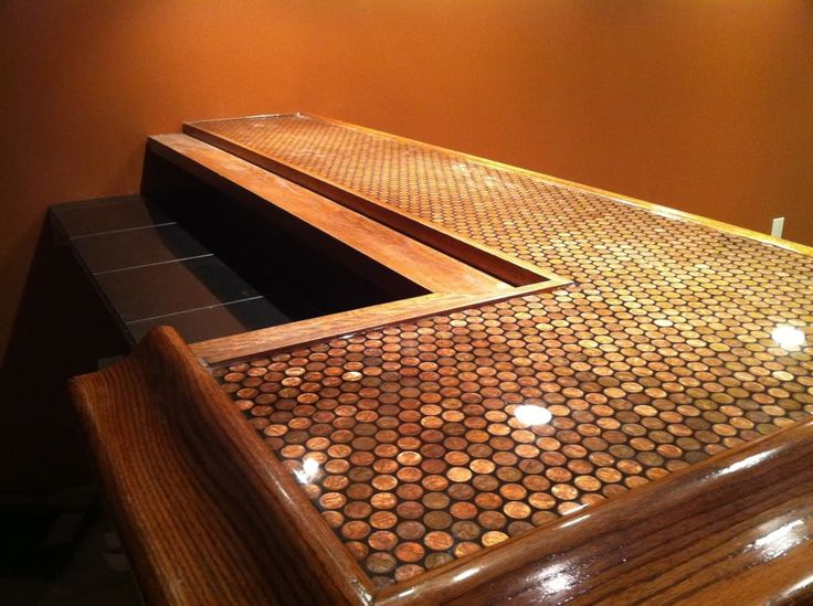 Penny Tile Bar Top