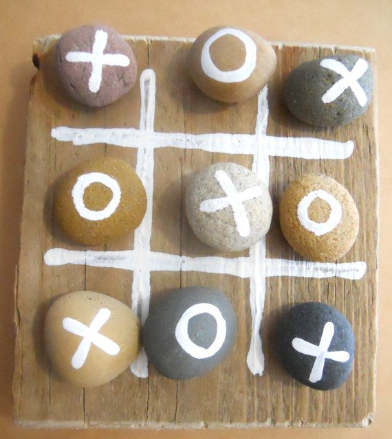 READY TO SHIP Driftwood Tic Tac Toe Driftwood by BeadyMagpie