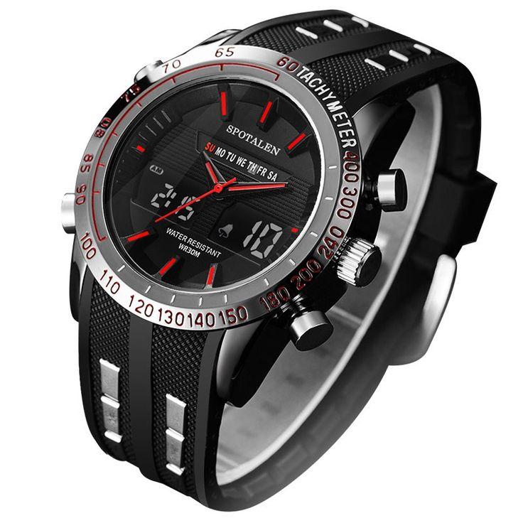 Большая скидка Цена :  783.94 руб. / шт.  купить электронные часы наручные. Вы ищете сумку:  Spotalen верхней часовой бренд Для мужчин спортивные серии Luxury логотип Многофункциональный цифровой электронный будильник секундомер часы дл...