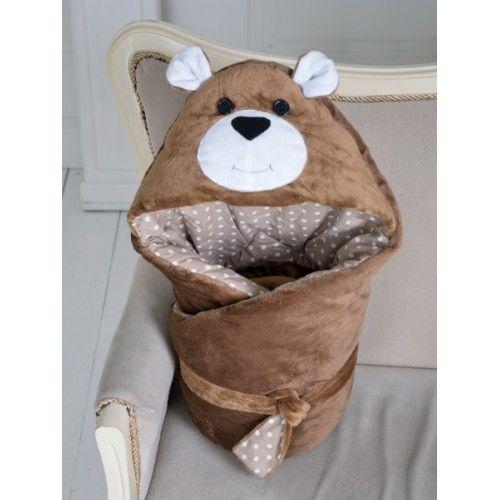 ТМ Magbaby Конверт-одеяло на выписку Мишка коричневый | Товары для новорожденных, одежда для детей, игрушки. Купить в Украине