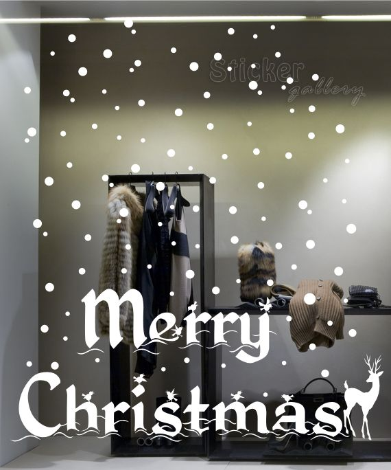 Merry Christmas Wall Decal - Ideas for Shop windows...