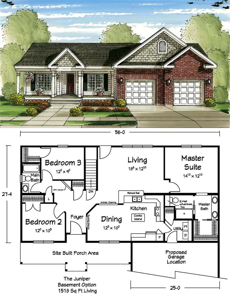this ranch floor plan makes the most out of a small