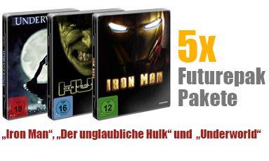 5x Iron Man, Der unglaubliche Hulk und Underworld