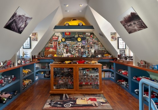 Model Car Museum Man Cave Epic Man Caves Traditional