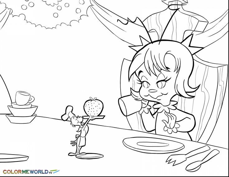 Cindy Lou who Christmas Tree Coloring Pages Free | Grinch ...