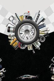 kreatives Reifenreparaturwerkzeugautoreparatur-Plakathintergrundmaterial   – Cars and Motorcycles
