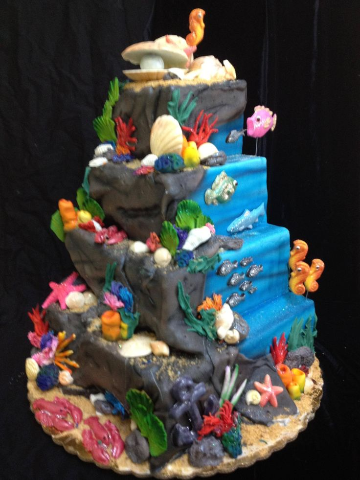 4125 Best Beach And Sea Cakes Images On Pinterest Cakes