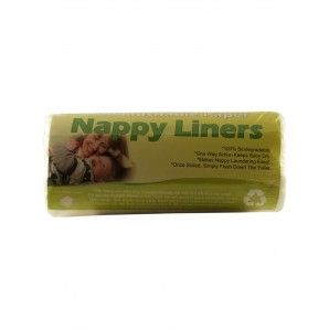 100% biodegradable, flushable nappy liners