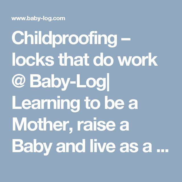 1000 Ideas About Childproofing On Pinterest Baby