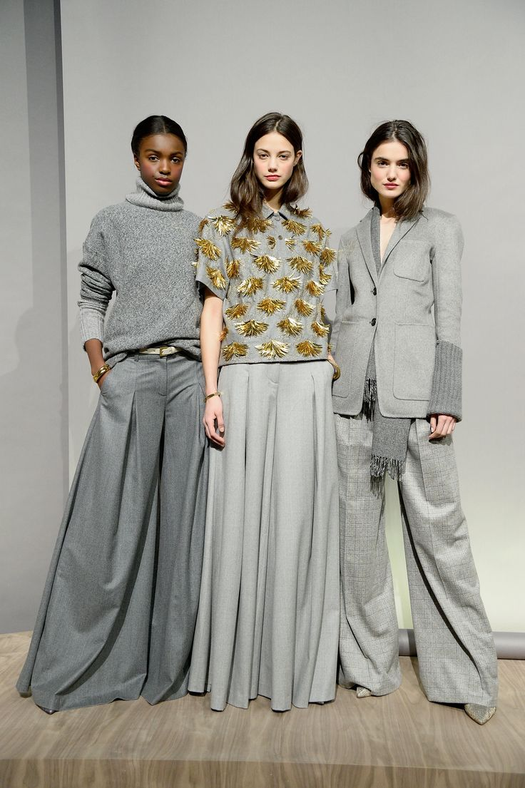 J.Crew Fall 2015 collection shows shades of gray and wide-leg pants