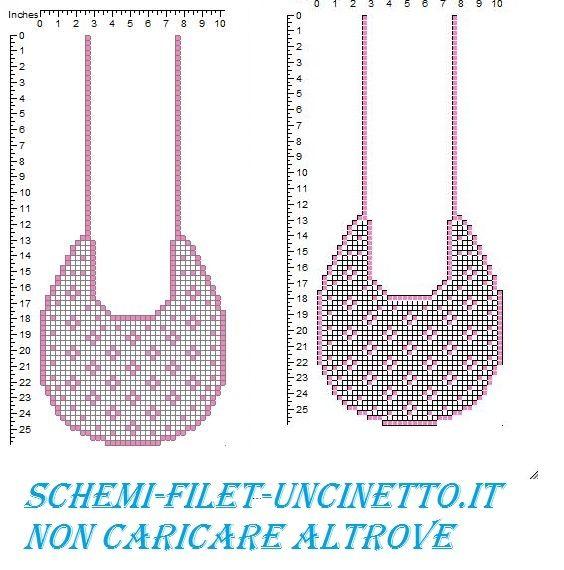 13 best images about schemi filet uncinetto bavaglini on