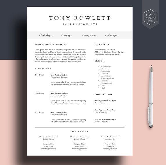professional resume template resume template for word cv template cover letter lebenslauf