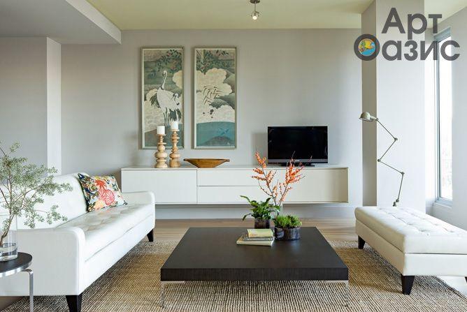 Азиатский стиль в интерьерном дизайне считается наиболее универсальным из ныне существующих. Он может быть совершенно разноликим: нейтральным, сдержанным или по-экзотически ярким. Оформление квартиры или комнаты в азиатском стиле создаст ощущение просторы и наполнит искомое пространство воздухом.Легкие и непринужденныемотивы, нежные тона, символика Азии, веера или зонтики  в принте картин – всё это и есть утончённый Азиатский стиль. #artoasis #art #oasis #artoasisru #artmania…