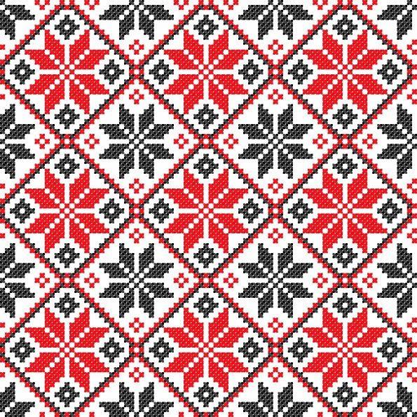 Ukrainian cross stitch pattern