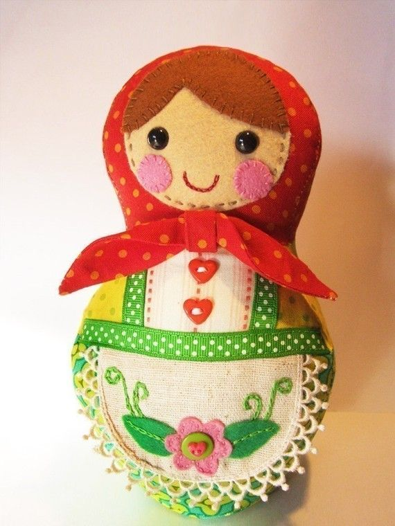 The cutest Babushka doll I've ever seen!