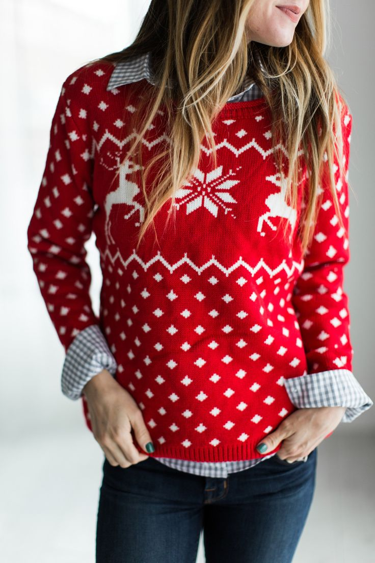 (all sales on CYBER MONDAY are F I N A L : no returns or exchanges) If there's a time to get festive, it's now! Knitted Holiday Pullover See Sierra's sizing HERE, she is wearing size Small See Margie'