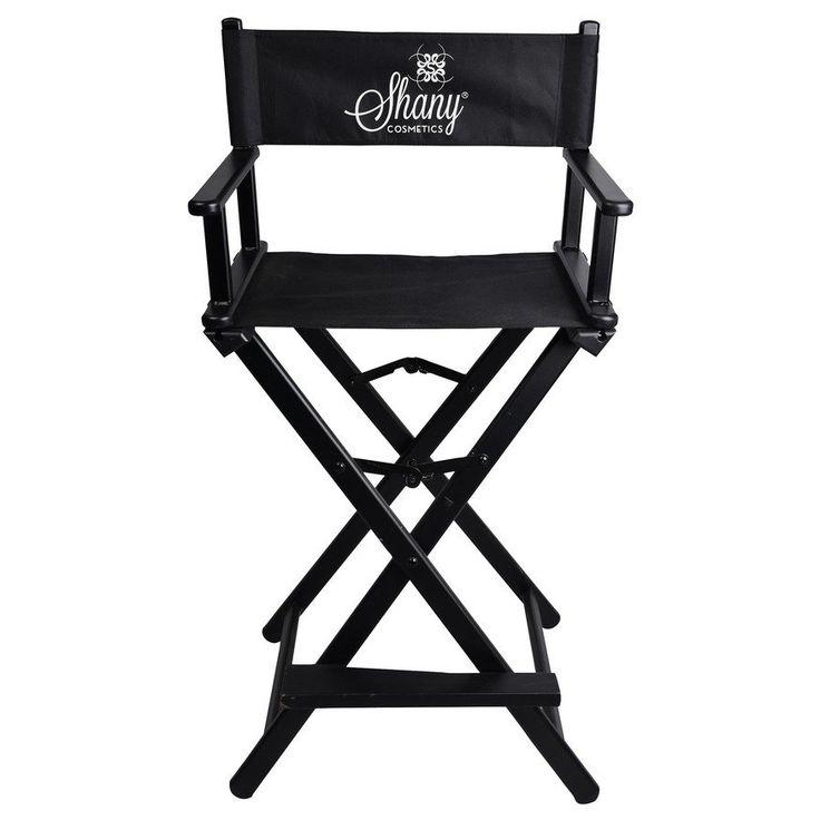 Studio Director Chair - Makeup Artists Chair - Black | SHANY Cosmetics