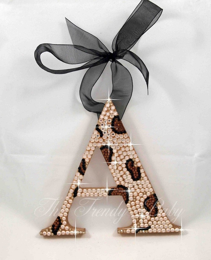Image detail for -Leopard Print Crystal Hanging Wall Letters