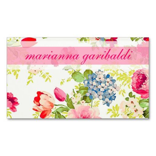 286 best floral business card templates images on pinterest elegant floral vintage profissional business card templates wajeb Gallery