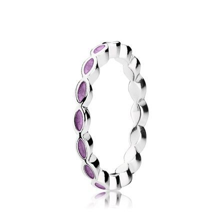 Purple Enamel Twist Ring - Pandora UK | PANDORA eSTORE