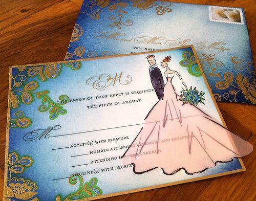 a bride's response card