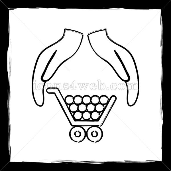 Consumer Protection Protecting Hands Sketch Icon Hand Sketch Sketch Icon Outline Designs