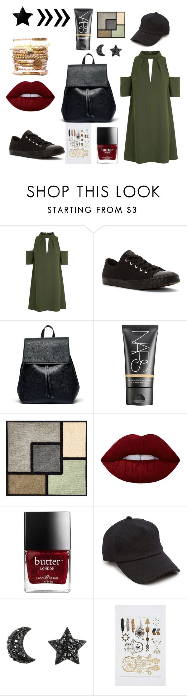 """""""style militaire <3"""" by lemar1308 on Polyvore featuring Topshop, Converse, Sole Society, NARS Cosmetics, Yves Saint Laurent, Lime Crime et rag & bone"""