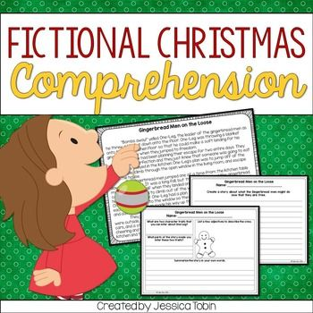 Christmas Reading Comprehension Activities-This product comes with 5 fictional Christmas short stories and 2 activities for each story (1 reading comprehension worksheet and 1 writing piece).1. The Case of the Missing Elves-Comprehension QuestionsAlternate Ending- writing2.