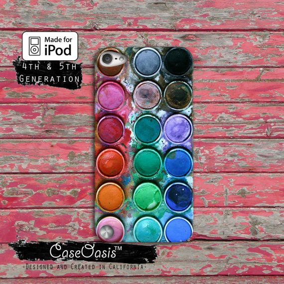 Paint Palette Watercolor Set Rainabow Cute Tumblr Case iPod Touch 4th Generation or iPod Touch 5th Generation Rubber or Plastic Case on Etsy, $14.99