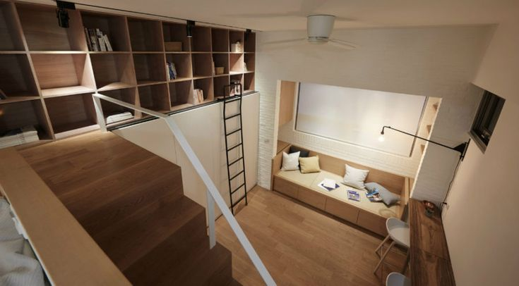 View from above a 22 sq m apartment layout 900x497 Brilliant Tiny Apartment in Taiwan by A Little Design