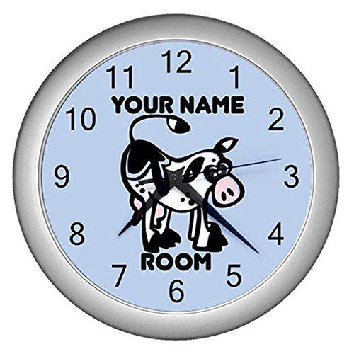 Blue Personalized Cartoon Animal Cow Wall Clock CustomMade http://www.amazon.com/dp/B0114MNZC2/ref=cm_sw_r_pi_dp_BY7Mvb04YYCN9