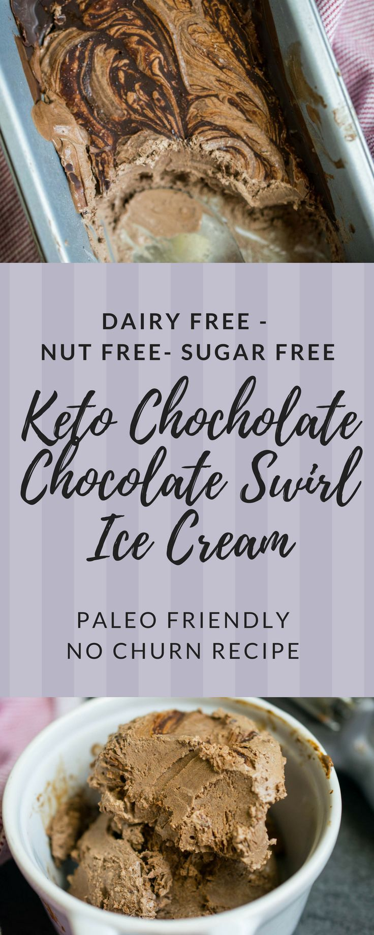 Chocolate Chocolate Swirl Dairy Free Keto Ice Cream (Nut Free, Paleo Friendly) • The Castaway Kitchen