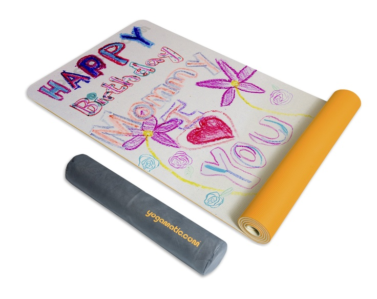 www.yogamatic.com  Put your childs art on your yoga mat.