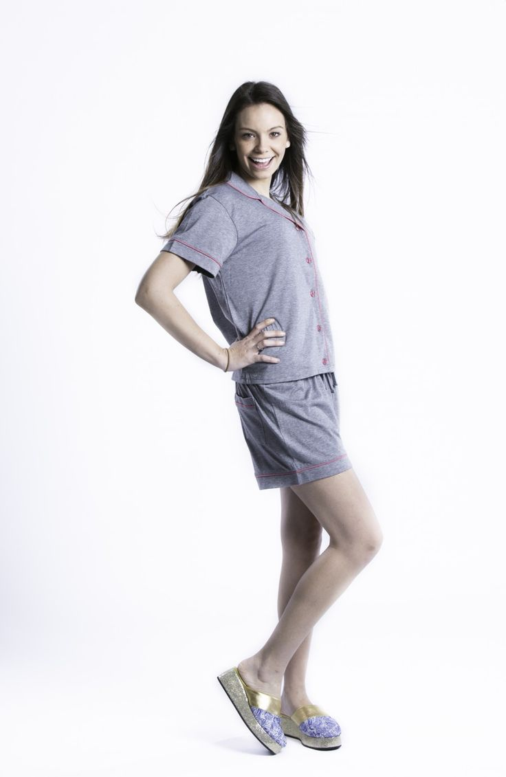 Short Pajamas with Satin Trim Cozy stretch jersey classic button front top with matching shorts. Stay comfortable in these pjs, stay cool and dry with the amazing moisture wicking material, perfect for hot flashes and night sweats.  Call us at : (316) 440-3440