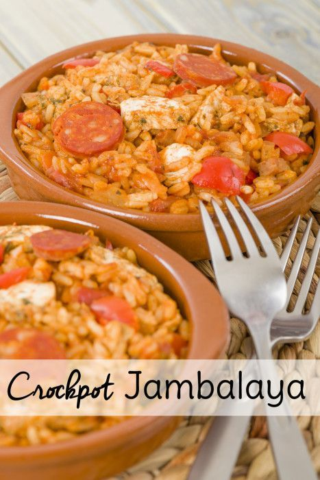 Simmering on low all day makes this crockpot jambalaya recipe one of the best. The flavors really meld together with this easy dinner idea.