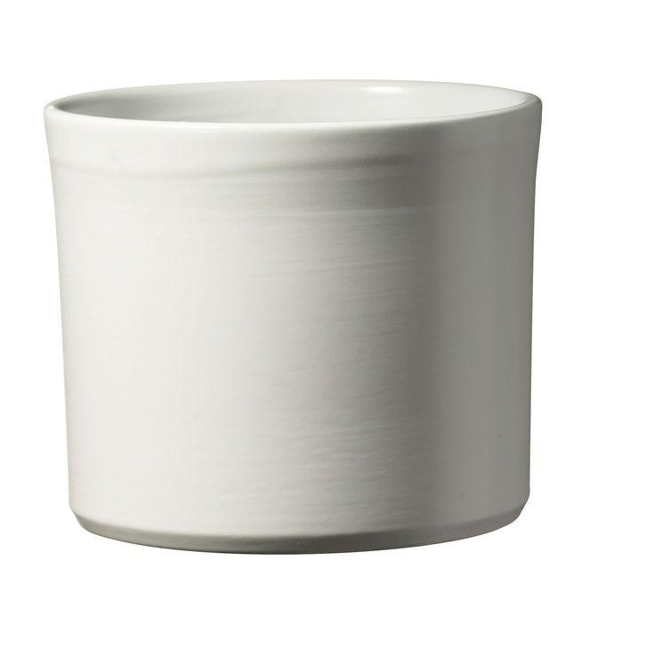 Miami White Plant Pot (H)71cm (L)14cm (Dia)18cm | Departments | DIY at B&Q