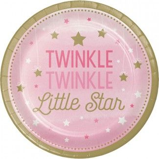 Little Star Pink Dinner Plates - 9in (8 Pack)