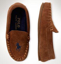 Polo Ralph Lauren pour garçons : ces mocassins en daim doux sont brodés de notre Big Pony distinctif.