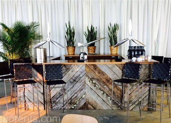 Aviation themed corporate event