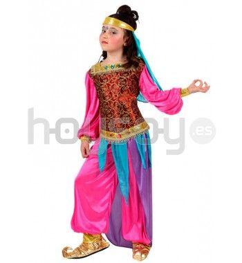 #Disfraz de #princesa #árabe infantil para fiestas escolares, #carnaval, fiestas temáticas, etc. #Colegio #Disfraces