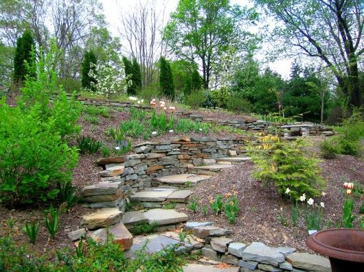 landscaping a steep slope landscaping a slope pinterest gardens backyards and curves. Black Bedroom Furniture Sets. Home Design Ideas