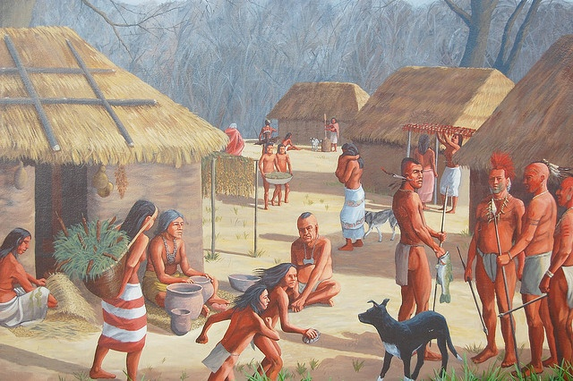 Paducah, Kentucky Historical Mural Depicting the Mississippian ...