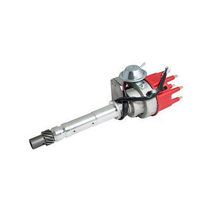 Top Street Performance JM6701R Ready-To-Run Electronic Distributor with Red Cap