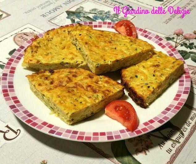 Torta+carote+zucchine+patate+al+forno