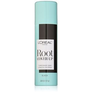 a loreal paris root cover up temporary gray concealer spray black 2 oz 3 pack