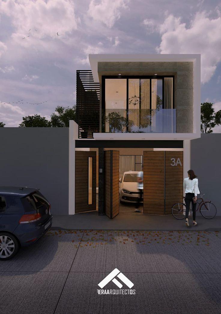 44 melhores imagens de fachadas de casas peque as no for Fachadas de casas de 6 metros de frente modernas